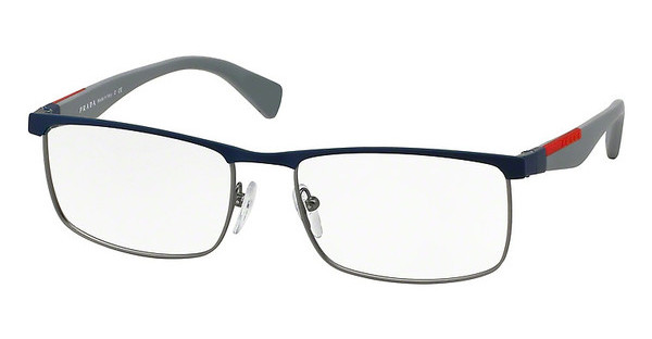 Prada Sport PS 54FV TWQ1O1 BLUE RUBBER/GUNMET RUBBER