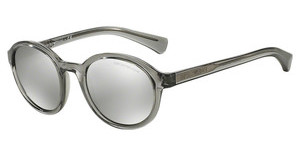 Emporio Armani EA4054 53726G LIGHT GREY MIRROR SILVERTRANSPARENT GREY