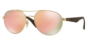 Ray-Ban RB3536 112/2Y LIGHT BROWN MIRROR PINKMATTE GOLD