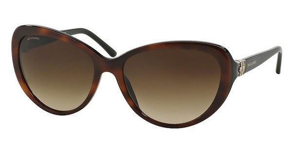 Bvlgari BV8131B 879/13 BROWN GRADIENTTOP HAVANA ON BLACK