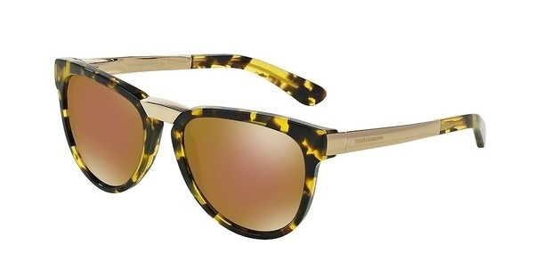 Dolce & Gabbana DG4257 2969F9 BROWN MIRROR BRONZECUBE LEMON