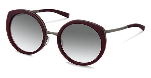 Jil Sander J1001 B sun protect - smokx grey gradient - 68%dark red