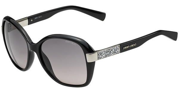 Jimmy Choo ALANA/S D28/EU GREY SFSHN BLACK (GREY SF)
