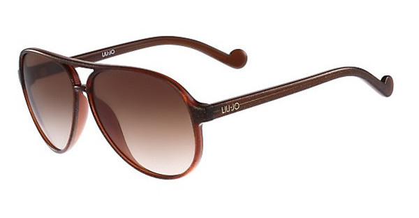 Liu Jo LJ634S 210 BROWN WITH GOLD GLITTER