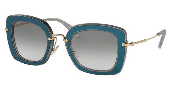 Miu Miu MU 07OS ROY1E0 GREEN GRADIENTTRANSPARENT GREY