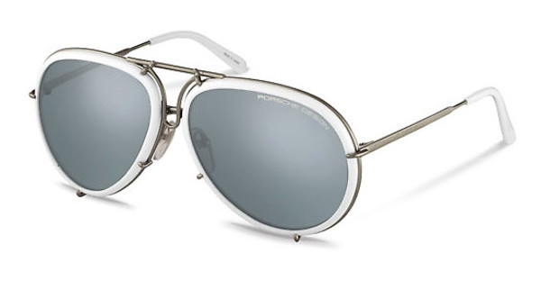 Porsche Design P8613 C light blue, silver mirrored + browntitan