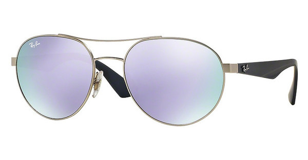 Ray-Ban RB3536 019/4V GREEN MIRROR LILLACMATTE SILVER