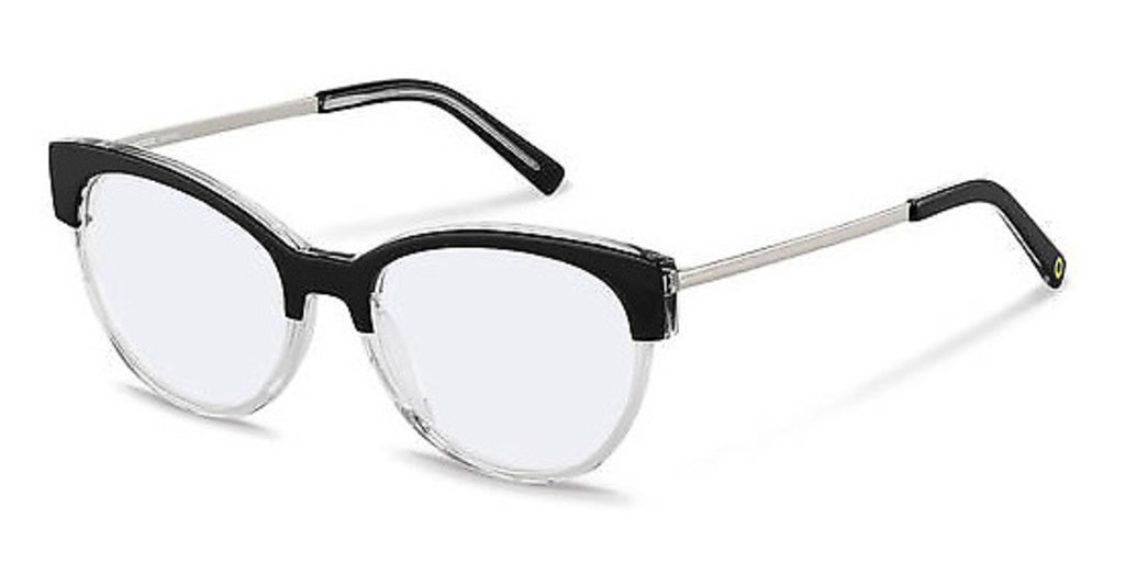 Rocco by Rodenstock   RR459 A black crystal, silver