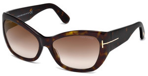 Tom Ford FT0460 52G braun verspiegelthavanna dunkel