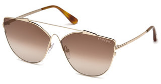 Tom Ford FT0563 28G braun verspiegeltrosé