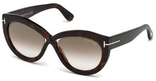 Tom Ford FT0577 52G braun verspiegelthavanna dunkel